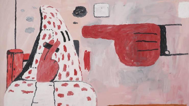 """Das Gemälde """"Scared Stiff"""" des 1980 verstorbenen amerikanischen Künstlers Philip Guston wechselte am ersten Tag der Art Basel für rund 15 Millionen US-Dollar den Besitzer. (Pressebild)"""