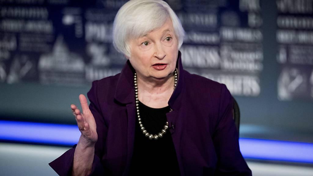 Die neue US-Finanzministerin Janet Yellen will die US-Zölle für die Volksrepublik China zunächst beibehalten und erst einmal die Situation analysieren. (Archivbild)