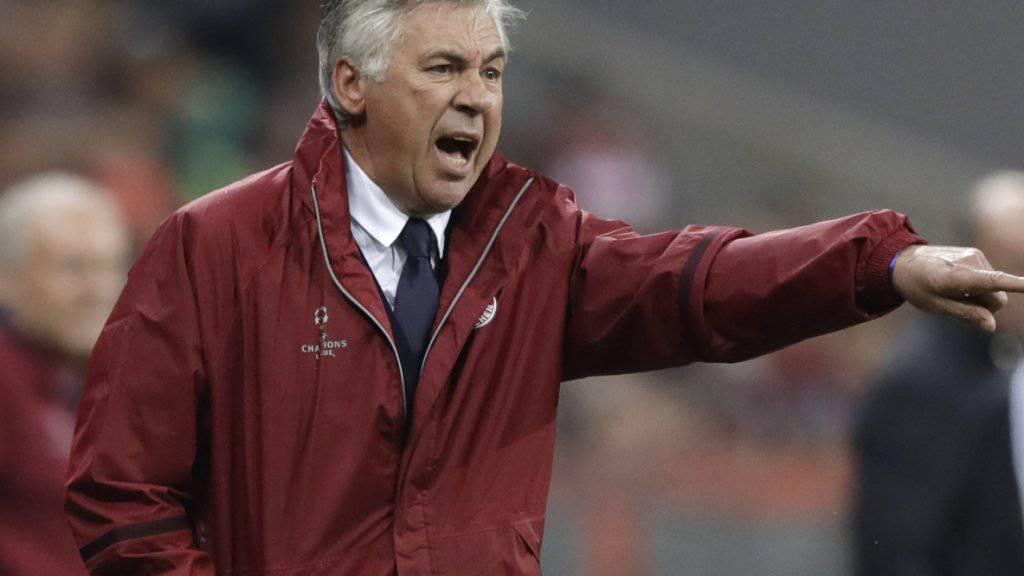 Wieder mehr Grund zur Zufriedenheit: Bayern-Trainer Carlo Ancelotti