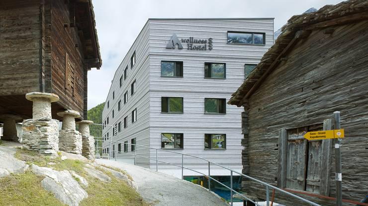 Moderne Anlage für Fitness und Wellness in rustikaler Bergwelt: Das findet man in der Jugi in Saas-Fee.