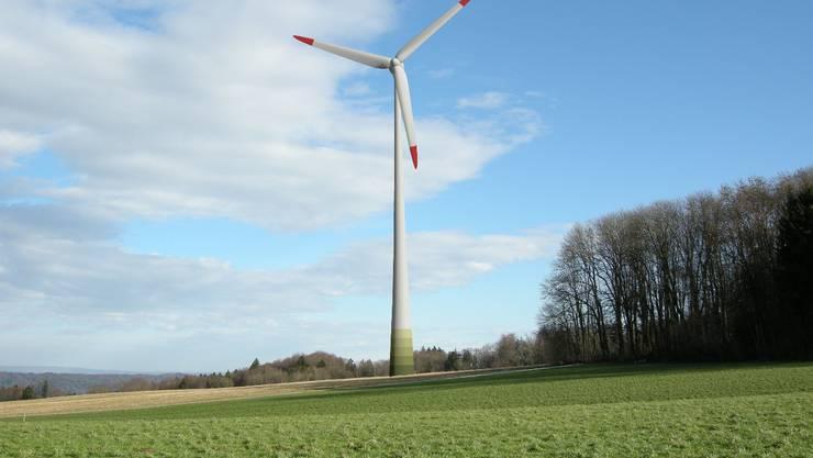 Das geplante Windrad auf dem Heitersberg