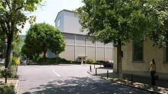 So könnte sich die geplante Hinterbühne des erweiterten Kurtheaters dereinst präsentieren.Visualisierung/Boesch Architekten