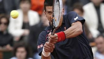Novak Djokovic liegt mit 1:2-Sätzen im Rückstand.