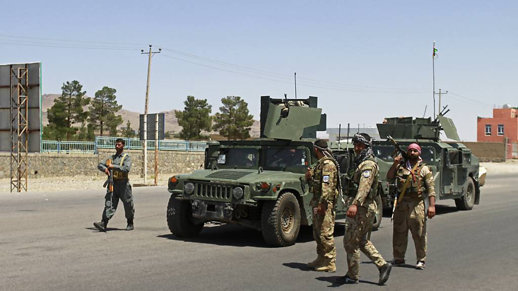Afghanische Sicherheitskräfte in Herat (Archivbild). Foto: Hamed Sarfarazi/AP/dpa