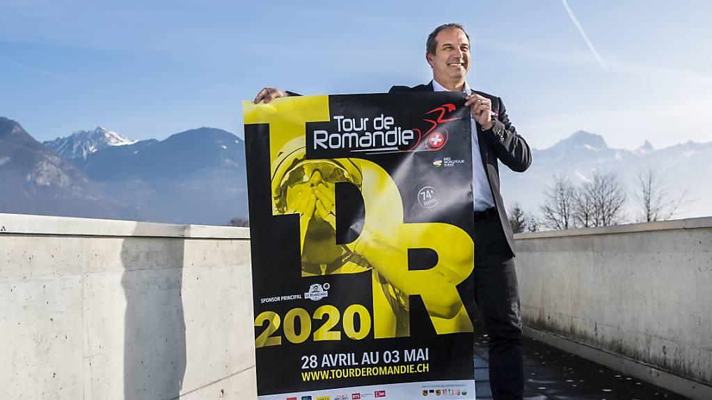 Tourdirektor Richard Chassot präsentiert das Logo und die Details zur Tour de Romandie 2020.