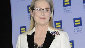 Erneute Protestrede gegen Donald Trump: US-Schauspielerin Meryl Streep will sich vom Präsidenten Freiheit und Glück nicht wegnehmen lassen.