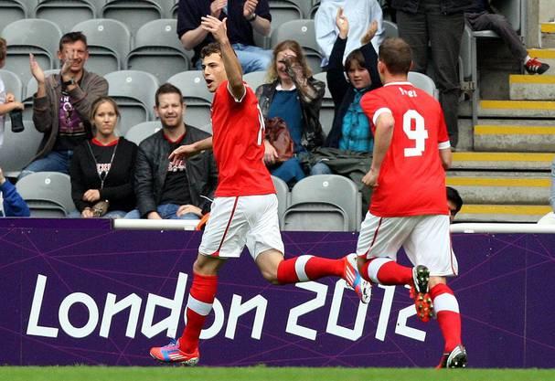 Admir Mehmedi feiert sein Goal