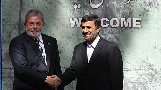 Der brasilianische Präsident Lula (links) und sein iranischer Amtskollege Ahmadinedschad