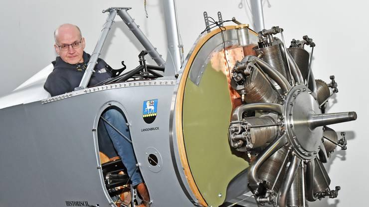 Isidor von Arx hat zusammen mit Kuno Schaub das Lieblingsflugzeug von Oskar Bider nachgebaut.