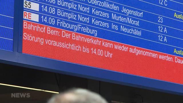 Bahnhof Bern komplett gesperrt