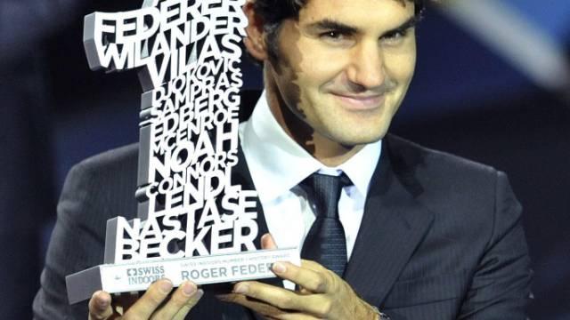 "Roger Federer präsentiert den ""Number One History Award"""