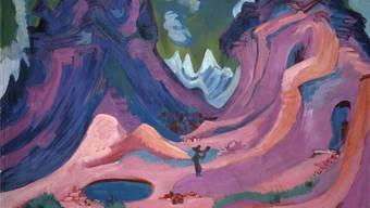 Ernst Ludwig Kirchner: Amselfluh; 1922. 120 x 170.5 cm; Öl auf Leinwand, erworben 1944.