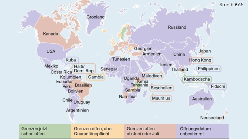 In welche Länder können Schweizer einreisen?