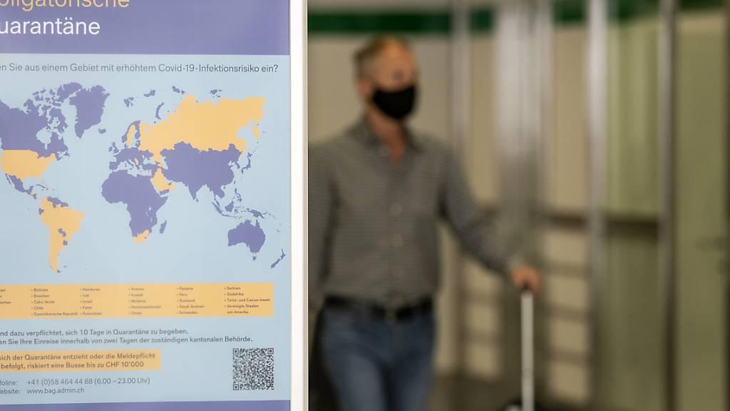 Schweiz erweitert Risikoliste auf 42 Länder - 6'000 in Quarantäne