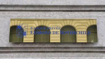 Das Logo der Privatbank Edmond de Rothschild in Genf (Archiv)