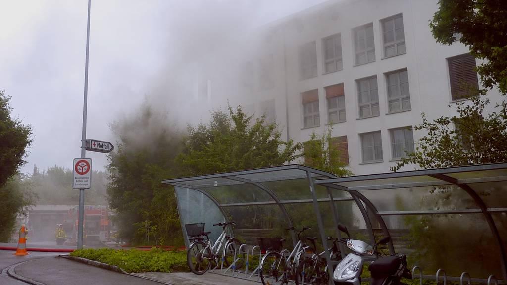 Brand im Spital