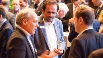 Wurde als langjähriges Vorstandsmitglied verabschiedet: Klaus Kaiser (Mitte), der noch bis Ende Juli als Geschäftsführer der «Suteria» tätig ist.Zvg