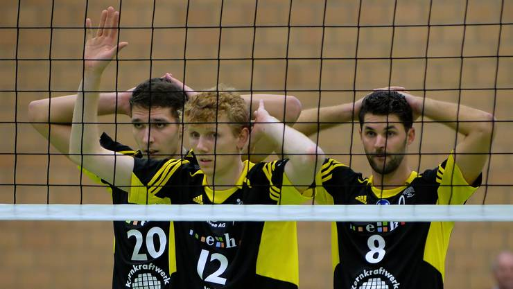 Fran Peterlin, Christoph Hänggi und Sébastien Chevalier müssen sich gegen Amriswil geschlagen geben