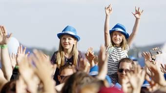 Das Publikum feierte die Stars auf dem Birrfeld.
