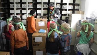 Hierzu haben Besucher normalerweise keinen Zugang: das Archiv der Zentralbibliothek.