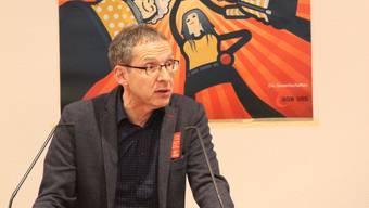 Der SP-Regierungsrat Urs Hofmann bei seiner Rede.