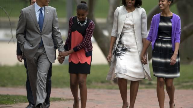 Barack, Sasha, Michelle und Malia Obama (Archiv)
