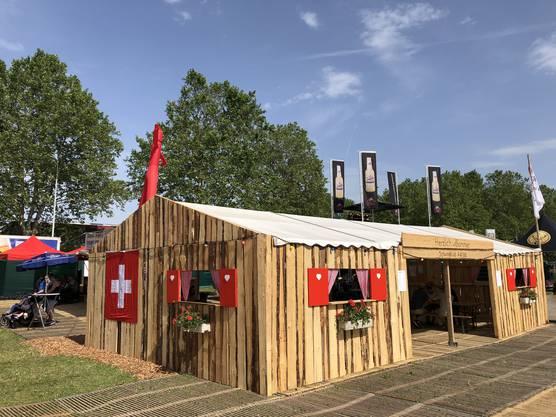 """Die """"Hosälupf Bar"""" des Schwingklubs Aarau und Umgebung."""