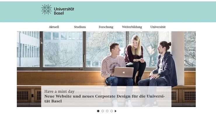 Die neue Universitäts-Website in der Farbe «Mint» wird auch auf Smartphones korrekt dargestellt.