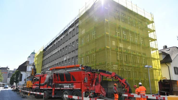 Eindrücke von der Baustelle: Ende 2019 soll hier das neue Haus der Museen eröffnet werden.