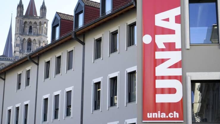 Der Haussegen bei der Unia Waadt hängt schief. Im Bild die Büros in Lausanne. (Archiv)