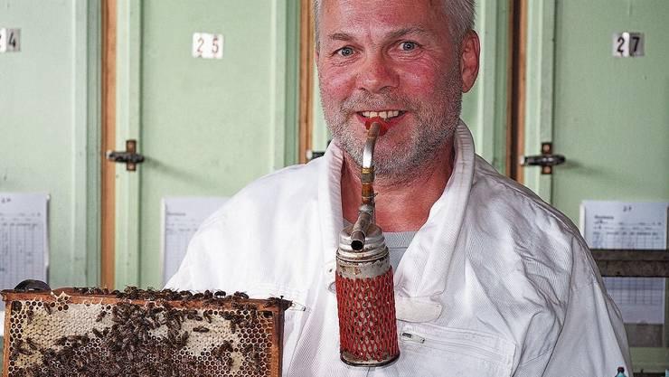 In den Waben von Imker Karl Güntert summt und brummt es ohne Unterlass.