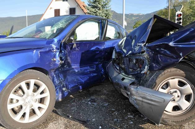 Der verunfallte Mazda