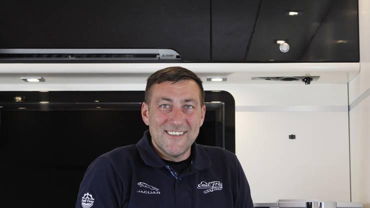 Pavel Nahodil: Fahrer des Trucks und während des Rennens für zahlreiche weitere Aufgaben zuständig.