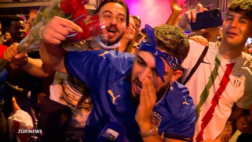 EM-Titel-Sause bei Italien-Fans, Frust bei England-Anhängern