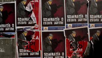 Schmähplakate gegen US-Richter Griesa in Buenos Aires