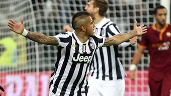Arturo Vidal erzielte für die Juve den Führungstreffer