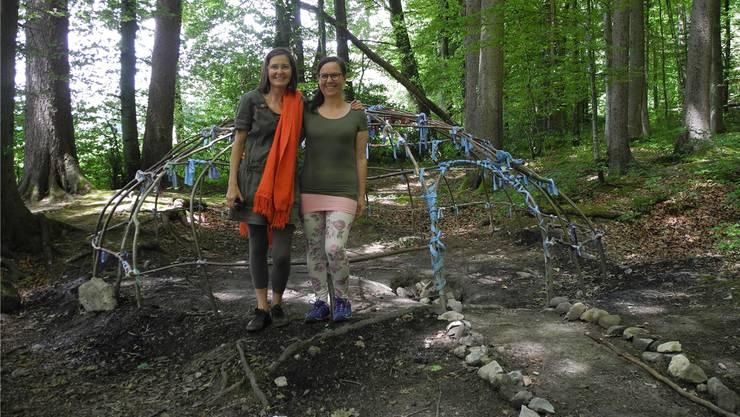 Silvia Bren (links) und Manuela Krah (rechts) brachten die Schwitzkur nach Weiningen.