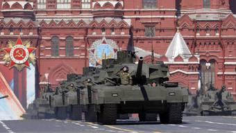 Putins Panzer-Demonstration anlässlich der Siegesfeiern über Nazi-Deutschland im Mai 2015 in Moskau.