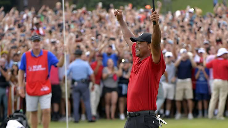 Tiger Woods und die ekstatischen Fans: Ein häufiges Bild in der Saison 2019?