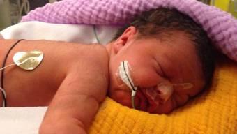 Um exakt 1.07 Uhr hat Mia am 1. Januar im KSA das Licht der Welt erblickt. Sie ist das Aarauer «Neujahrsbaby».