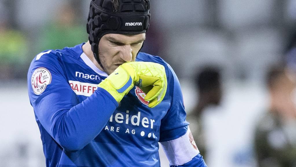 Thuns Goalie Guillaume Faivre erlebte einen Nachmittag zum Vergessen.