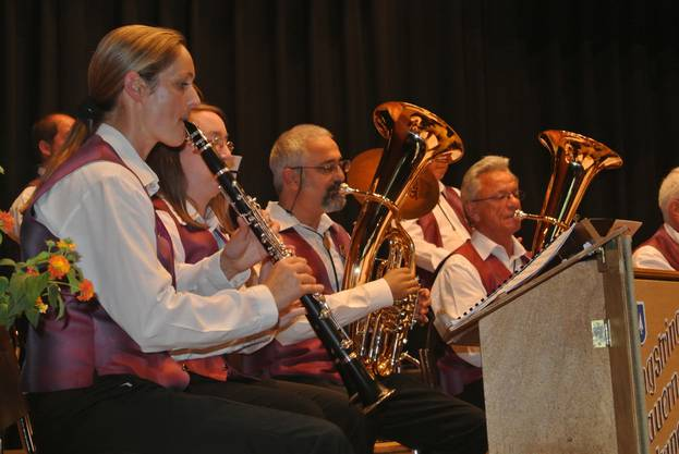 Die Musikanten haben auf das Jubiläum hin intensiv geübt