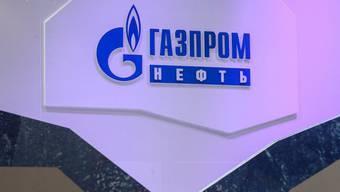 Logo des russischen Staatskonzerns Gazprom