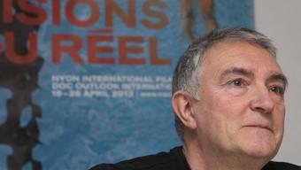 Festivaldirektor Luciano Barisone vor den Medien in Nyon