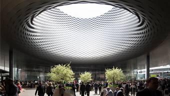 Kernstück der Basler Messe: Das neue Messegebäude. (Keystone)