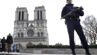 Ein verdächtiges Auto mit Gasflaschen im Kofferraum nahe der Pariser Kathedrale Notre Dame hält die französische Polizei in Atem. (Archivbild)