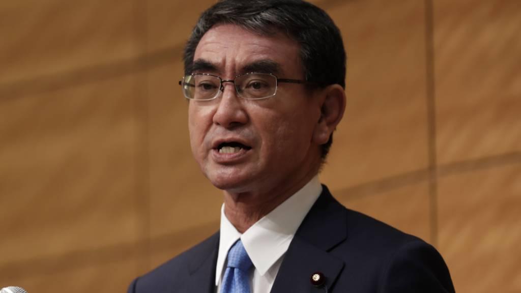 Taro Kono ist in Japan Kronfavorit für die Wahl eines neuen Regierungschefs. (Archivbild)