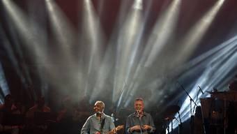 Für die Haftentlassung von Ex-Präsident Lula da Silva: Superstars Gilberto Gil und Chico Buarque (rechts) an dem Festival in Rio de Janeiro.