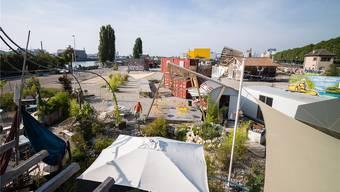Die geplanten Holzhallen konnte «Shift Mode» bislang nicht bauen. Entstanden sind verschiedene Gastro- und Kulturprojekte.