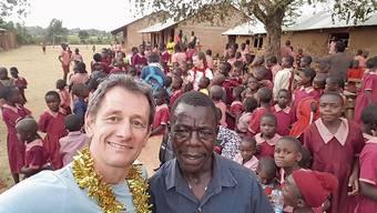 Marcel Hauri aus Rheinfelden bei einem seiner Besuche in Kenia.
